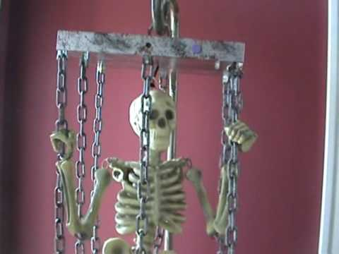 Mini Life Size Animated Hang Up Caged Skeleton doll lovers paradise