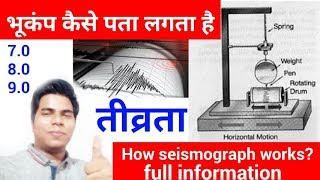 How Seismograph Works? Earth quakes Seismogram-Richter-Seismometer, Full information