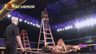 WSU Women's Wrestling: TLC Match - Athena vs. Hania (CZWstudios.com) NXT, EMBER MOON