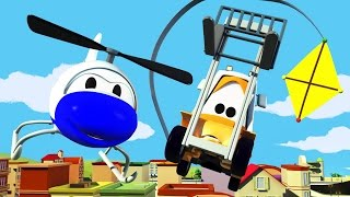 The Car Patrol: Fire Truck and Police Car and the Speeding Kites in Car City   Cars cartoon