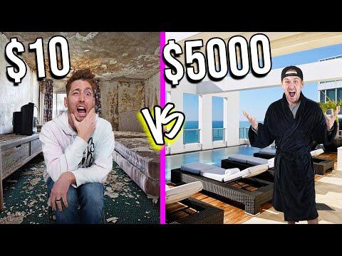10 VS 5 000 HOTELS Budget Challenge