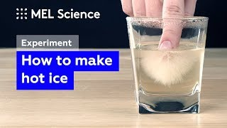 How to make hot ice from baking soda and vinegar (easy experiment)