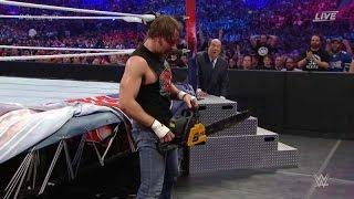 Dean Ambrose vs Brock lesnar Wrestlemania 32 en español completo