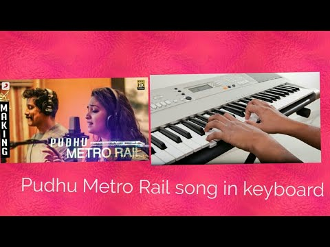 Saamy 2 - Pudhu Metro Rail song in keyboard-EASY.