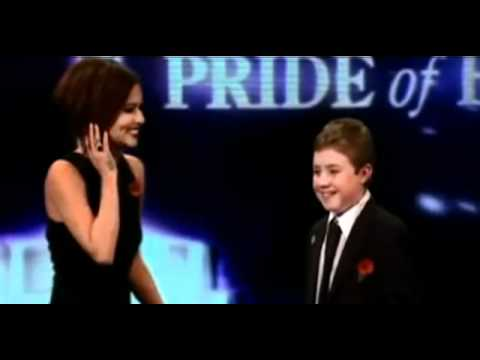Cheryl Cole getting pied in the face at the Pride of Britain Awards 2010