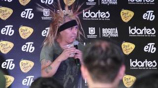 Jorge Herrera The Casualties rueda de prensa rock al parque 2014