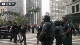 Brasil: Choques entre la Policía y manifestantes durante la huelga general