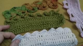 كروشيه  لحواف ب ٤طرق لتغيير شكل البلوفرات والشالات والاسكارفات. Crochet patterns