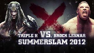 Triple H vs. Brock Lesnar, part of WWE Immortals
