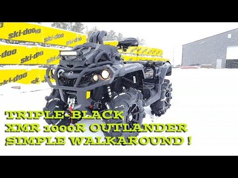 Triple Black Can-am XMR Outlander 1000R Classic 2
