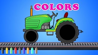 tractor | colors for children | color song | farm vehicles