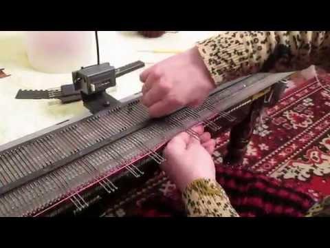 Видео вязание на машине для начинающих видео уроки