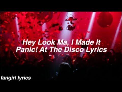 Hey Look Ma, I Made It || Panic! At The Disco Lyrics