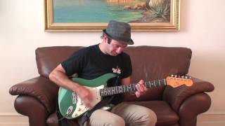 Cool Funky Groove Riff in A7 - Funky Rhythm Guitar Lesson