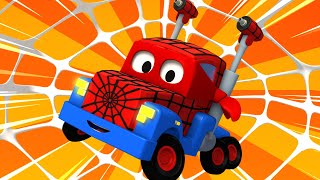 Football with Spiderman truck ! Carl the Super Truck - Car City ! Trucks Cartoon for kids