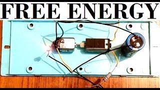 Free energy self running generator using DC motors & Capacitor