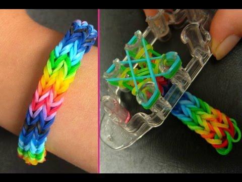 Как из резинок сделать двойной браслет