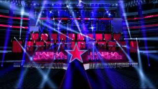 WWE Wrestlemania 32 Triple Threat Divas Championship Match Becky & Charlotte & sasha  entrances