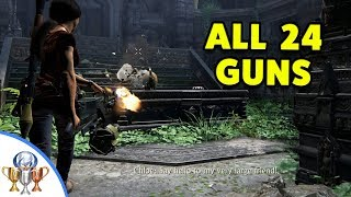 Uncharted The Lost Legacy - All 24 GUNS - Si Vis Pacem Para Bellum Trophy