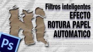 Tutorial photoshop: Wallaper texto de papel rasgado con filtros inteligentes by @ildefonsosegura