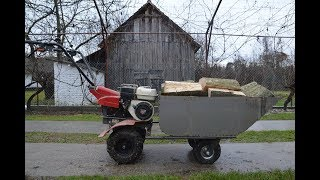 Homemade TRAILER For MOTOCULTIVATOR ! (MOTO WHEELBARROW)