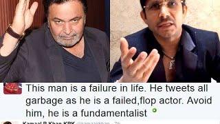 OMG Kamal R Khan blocked from Twitter for Insulting Veteran Actor Rishi Kapoor !!