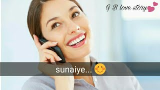 Gf bf cute love conversation | couple convo on phone call