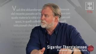 500X100TALK   Giorgio Tartaro con Sigurdur Thorsteinsson