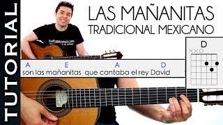 Como Tocar las Mañanitas Muy Fácil  acordes RANCHERA GUITARRA principiantes Mariachi