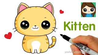 How to Draw a Kitten Super Easy