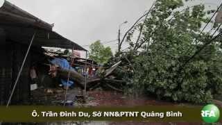 Bão số 10 gây thiệt hại nặng tại miền Trung VN