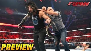 WWE RAW 18 April 2016 PREVIEW (4/18/16)