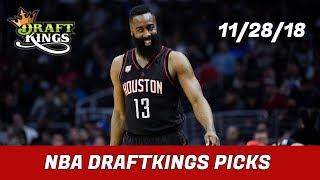 11/28/18 NBA DraftKings Picks - Money Six