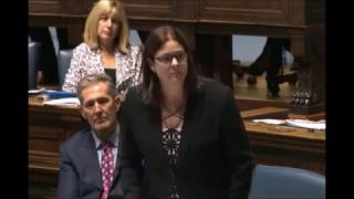 Minister Stefanson introduces the Election Financing Amendment Act