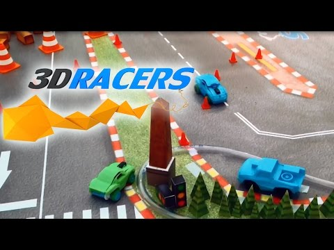 3DRacers - A racing game you can print! - Gameplay video