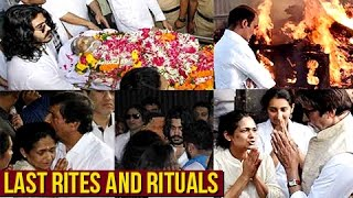 Actor Vinod Khanna Death, Last Rites And Rituals VIDEO