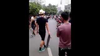 Jakarta skateboard @car free day