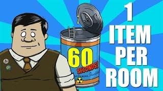 ONE ITEM PER ROOM CHALLENGE   60 Seconds Game