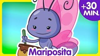 MARIPOSITA + Compilado de Clips 30 min. enganchados -  Canciones infantiles de la Gallina Pintadita