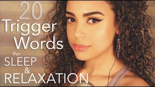 ~ 20 Trigger Words for SLEEP and RELAXATION | ASMR |~