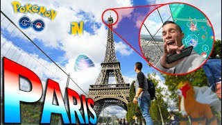 What is Pokémon Go like in Paris, France? CATCHING POKÉMON ON TOP THE EIFFEL TOWER!