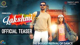 Lakshmi   Telugu Teaser   Prabhu Deva, Aishwarya Rajesh   Vijay   Sam C S   Official