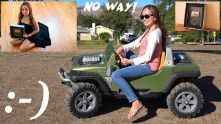 Mom Driving a Fisher-Price Ride-On Power Wheels + Playground Playtime with Kids