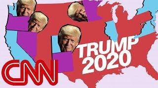 Donald Trump's narrow 2020 map