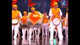 Dhol Tasha indian vs UK band performance in London Wembley Stadium