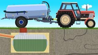 ☻ Farmer Farm Work - Liquid Manure Spreader | Bajki Traktory - Wóz Asenizacyjny | Szambo ☻
