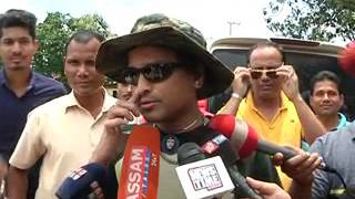 zubeen garg on road for flood