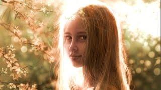 Digital Art - Young Girl in Garden