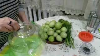 ԿԱՆԱՉ ԼՈԼԻԿԻ ԹԹՈՒ-Соленые Зеленые Помидоры-Stuffed Pickled Tomatoes Recipe