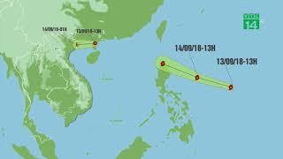 Bão số 5 suy yếu, siêu bão Mangkhut tiến gần vào biển Đông| VTC14